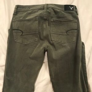 Olive Green American Eagle Jeggings